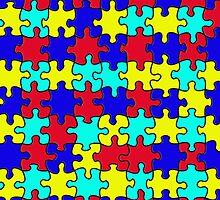 Autism Puzzle Pieces by screamingtiki