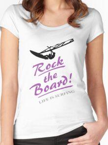 Rock the board - Windsurfing Women's Fitted Scoop T-Shirt