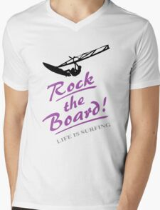 Rock the board - Windsurfing Mens V-Neck T-Shirt