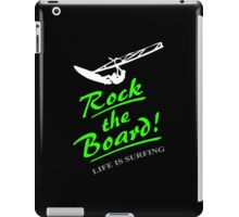 Rock the board - Windsurfing iPad Case/Skin