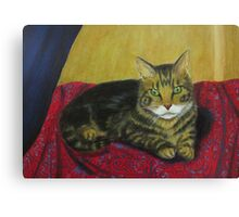 Tabby On Paisley Shawl Canvas Print
