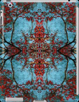 Woven Are The Blossoms IPad Case by Elizabeth Burton