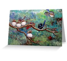 Wrens in the Garden Greeting Card