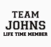 Team JOHNS, life time member Kids Clothes