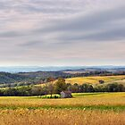 Windy &amp; Overcast October Pennsylvania View by Gene Walls