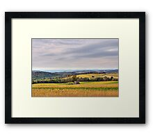 Windy & Overcast October Pennsylvania View Framed Print