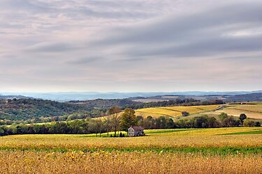 Windy & Overcast October Pennsylvania View by Gene Walls