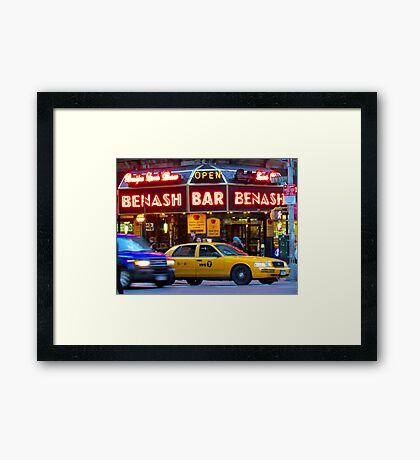 Taxi!    -     New York City Framed Print