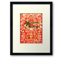 Season's Greetings - greeting card/holiday Framed Print