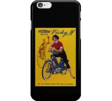 Girl on a Bike - Vintage Poster iPhone Case/Skin