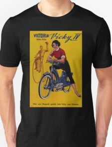 Girl on a Bike - Vintage Poster T-Shirt