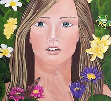 """Plumeria"" by Karen Christine Greaves"
