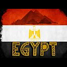 Egypt flag and pyramids by ilmagatPSCS2