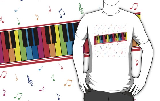 Colorful Piano by DetourShirts