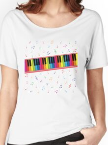 Colorful Piano Women's Relaxed Fit T-Shirt