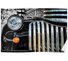 Rusted Bedford Truck Grill Poster