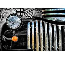 Rusted Bedford Truck Grill Photographic Print