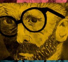 Hipster Van Gogh Sticker