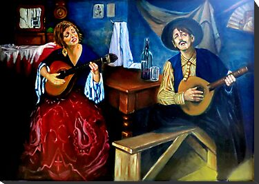 Fado_inspired by Jose Malhoa by Hidemi Tada