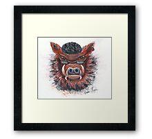 Harley Hog Framed Print