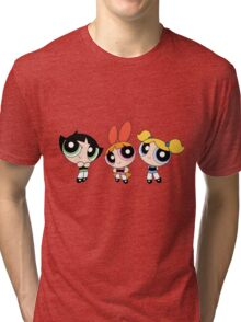 Powerpuff Girls Tri-blend T-Shirt