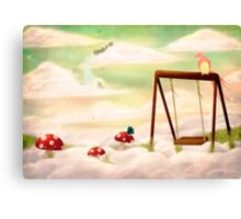 Swinging in the Clouds Canvas Print