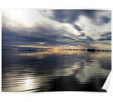 Clouds Over Colleen Lake Poster