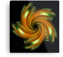 Ribbon Spin Metal Print
