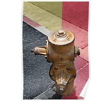sunset fire hydrant Poster
