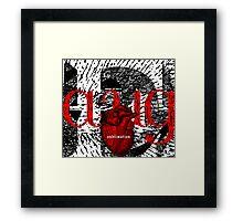 august = sublimation Framed Print