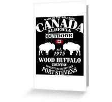Alberta - Canadian Wood Buffalo Greeting Card