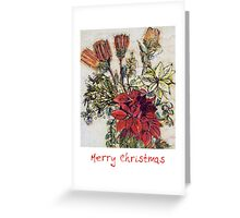 Flower Christmas card Greeting Card