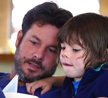 Father and Son read together by Clare Colins