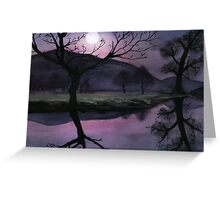 Night Reflection  Greeting Card