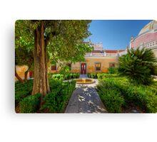 The Courtyard Garden Canvas Print