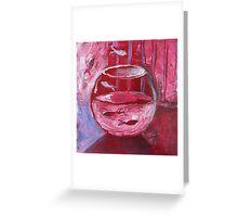 Fishbowl Red Greeting Card