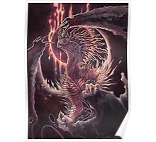 abyssal fire dragon Poster