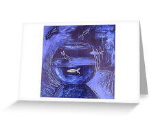 Fishbowl Blue Greeting Card
