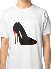 red heels black shoes Classic T-Shirt
