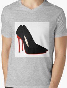 red heels black shoes Mens V-Neck T-Shirt