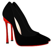 red heels black shoes by LonaBon