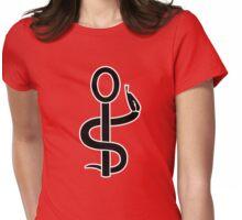 caduceus nurse aides snake Womens Fitted T-Shirt