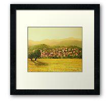 Golden Rural Scene Framed Print