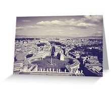 Rome IV. View from above.  Greeting Card