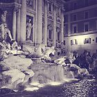Rome IX. Trevi fountain by night.  by sylvianik