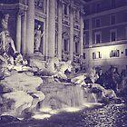Rome IX. Trevi fountain by night.  by sylvianik