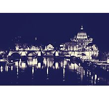 Rome XI. Vatican by night.  Photographic Print