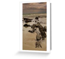 Line Of Stone Greeting Card