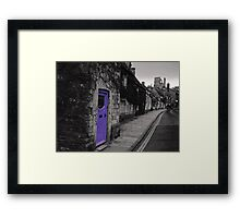 Purple door Framed Print