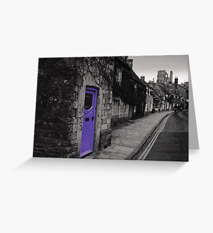 Purple door Greeting Card